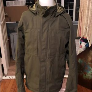 REI Khaki green military style jacket
